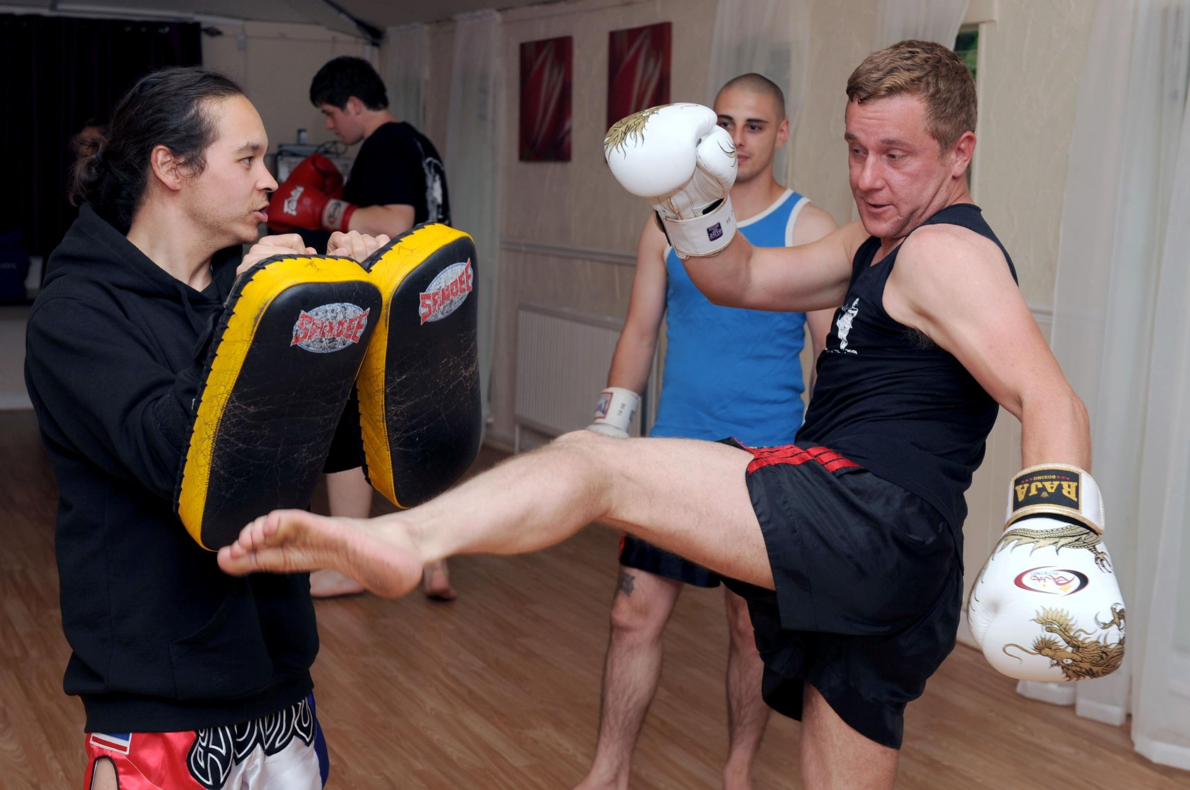 IT'S THE WEEKEND: The Cwmbran students learning the ancient art of Thai boxing