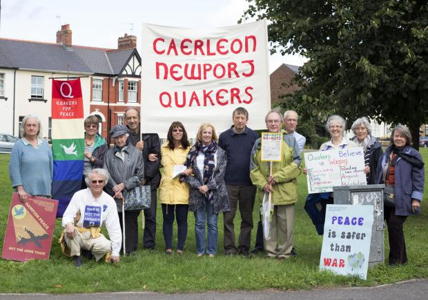 PEACE VIGIL: Caerleon, Newport Quakers at Goldcroft Common in Caerleon.