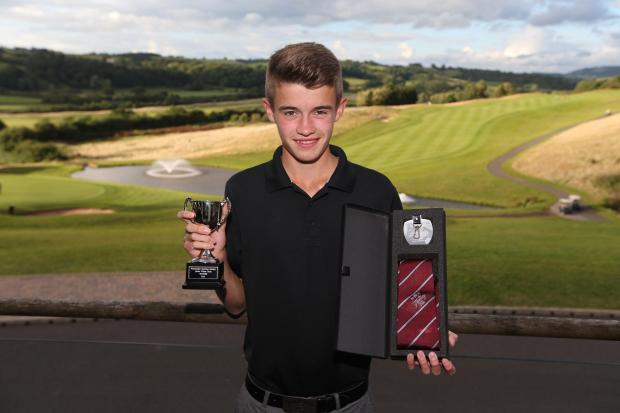 CHAMPION: Lewis Jones, aged 15, of Abertillery, who won the Principality Junior Wales Open golf tournament