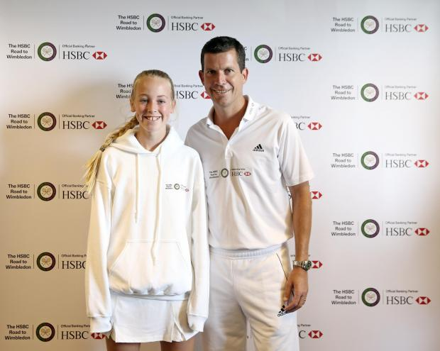 SPECIAL MOMENT: Newport's Lily Scaplehorn with former British No1 Tim Henman