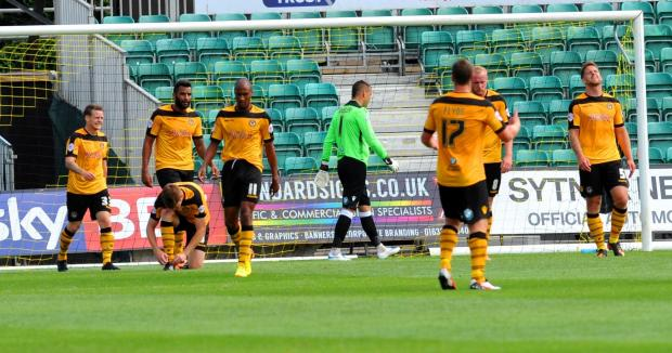 DON'T PANIC: County has had a poor start to the league season including a 2-0 opening day defeat to Wycombe Wanderers