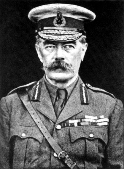 WARNING: Lord Kitchener said the 'present conflict would strain the resources of the Empire'