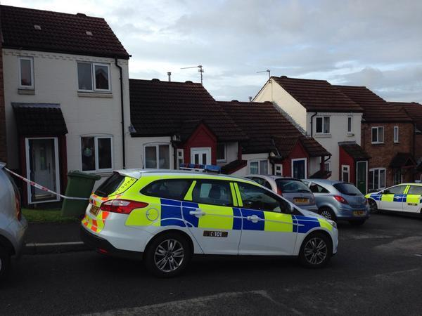 SCENE: Police on Twmbarlwm Close in Risca