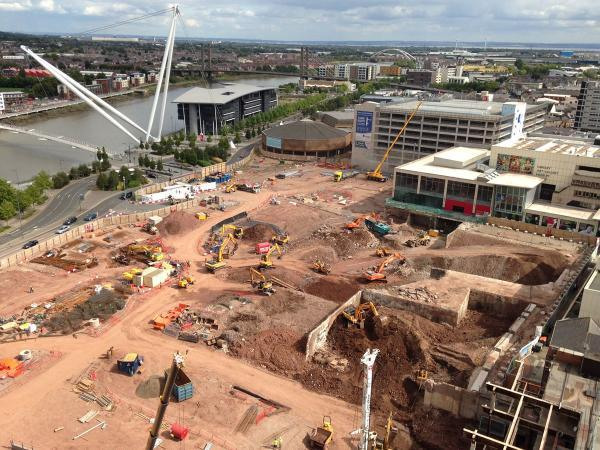 LATEST PICTURES: Newport Friars Walk scheme - August 28th