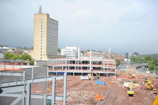 Pictured is the Firars Walk Project under construction, dated 29th August 2014. (9813947)
