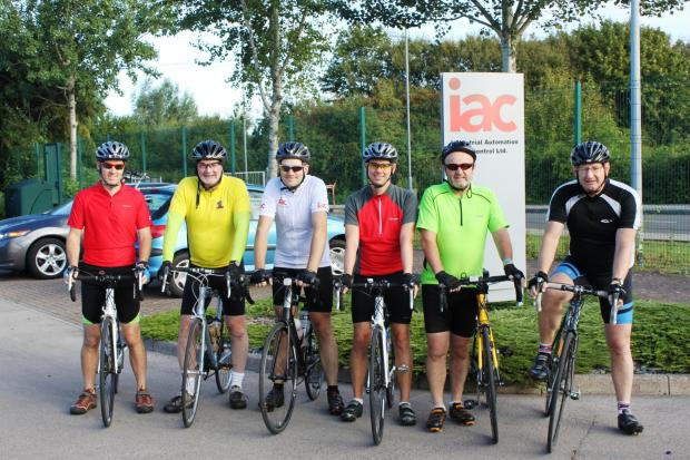 Riders from left to right: Ed Atree, Dennis Morgan, Matthew King, Richard Ellis, Andy Studley and Peter Lewis