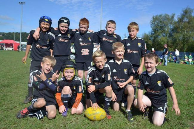 READY FOR ACTION: Hafodyrynys under-9s are playing full contact rugby as they start the new season