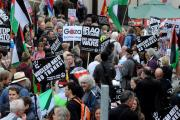 Nato protesters gather outside Newport crown court (9829209)