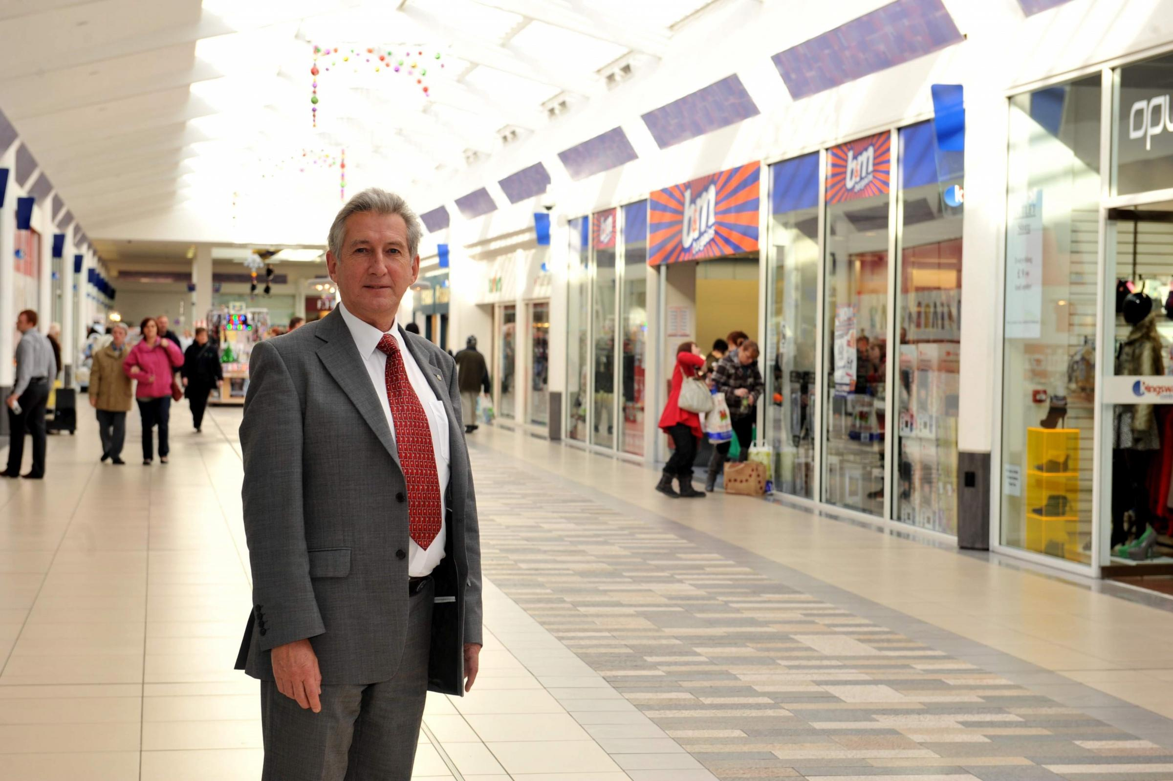 NEW OWNERS: Manager of the Kingsway Centre Michael Hine in the shopping complex