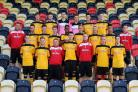 TALENTED GROUP: The 2014/15 County youth scholars squad