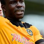 South Wales Argus: Newport County versus Wimbledon AFCTHAT'S A HANDY START  County's Ismail Yakubu puts the team one up (10834610)
