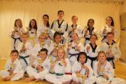 TALENTED: Members of Torfaen Taekwondo Club with their medals from the South West Championships