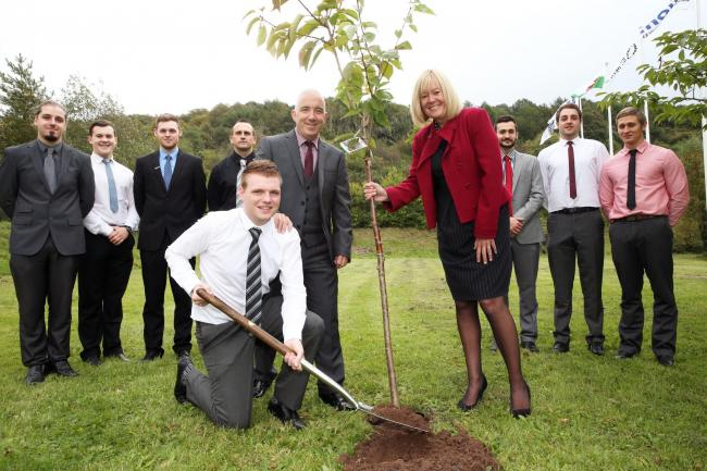 Latest apprentice 'digs in' as sustainability plan 'blossoms