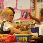 South Wales Argus: Pupils in the nursery class play shop (11630868)