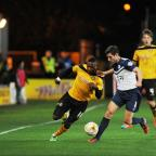 South Wales Argus: Newport  County AFC v Southend United – Pictured is Newport County player Aaron O'Connor on the attack. (11777388)