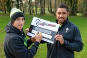 (13273023) CAMPAIGN PLEDGE: Justin Tipuric and Taulupe Faletau sign up for the Stonewall campaign