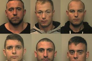 Drugs gang jailed for over 46 years