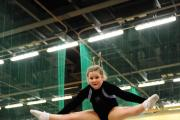SILVER MEDAL: Usk Valley Trampoline Club member Amy-Rose Shutt, aged ten, came second in the under 11 category  at the Welsh Schools Trampolining Championships