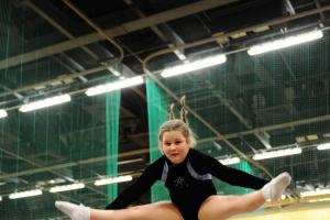 Usk Valley trampolinists turn on the style