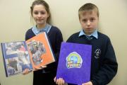 School of the Week - Our Lady and St Michael's RC Primary School. Mini Vinnies Sophia Stromberg and Will Chaplin. (13864144)