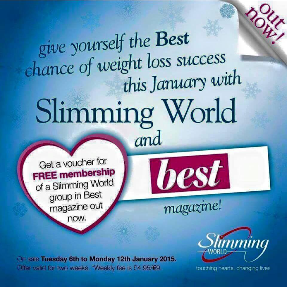Slimming world on 13 january at 19 30 Slimming world website please