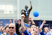 File photo dated 25-08-2013 The statue of Fred Keenor as Cardiff City fans chant during the Bluebirds Unite protest against the clubs change of shirt colour from blue to red. PRESS ASSOCIATION Photo. Issue date: Thursday January 8, 2014. Cardiff fans are