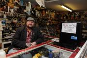 Steve Reynolds who runs the Toy Army stall in Newports indoor market supporting Shop Local Saturday. (2634886)
