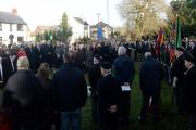 A parade to remember Cwmbran hero, John Fielding. The public in the churchyard for the service. (16873809)