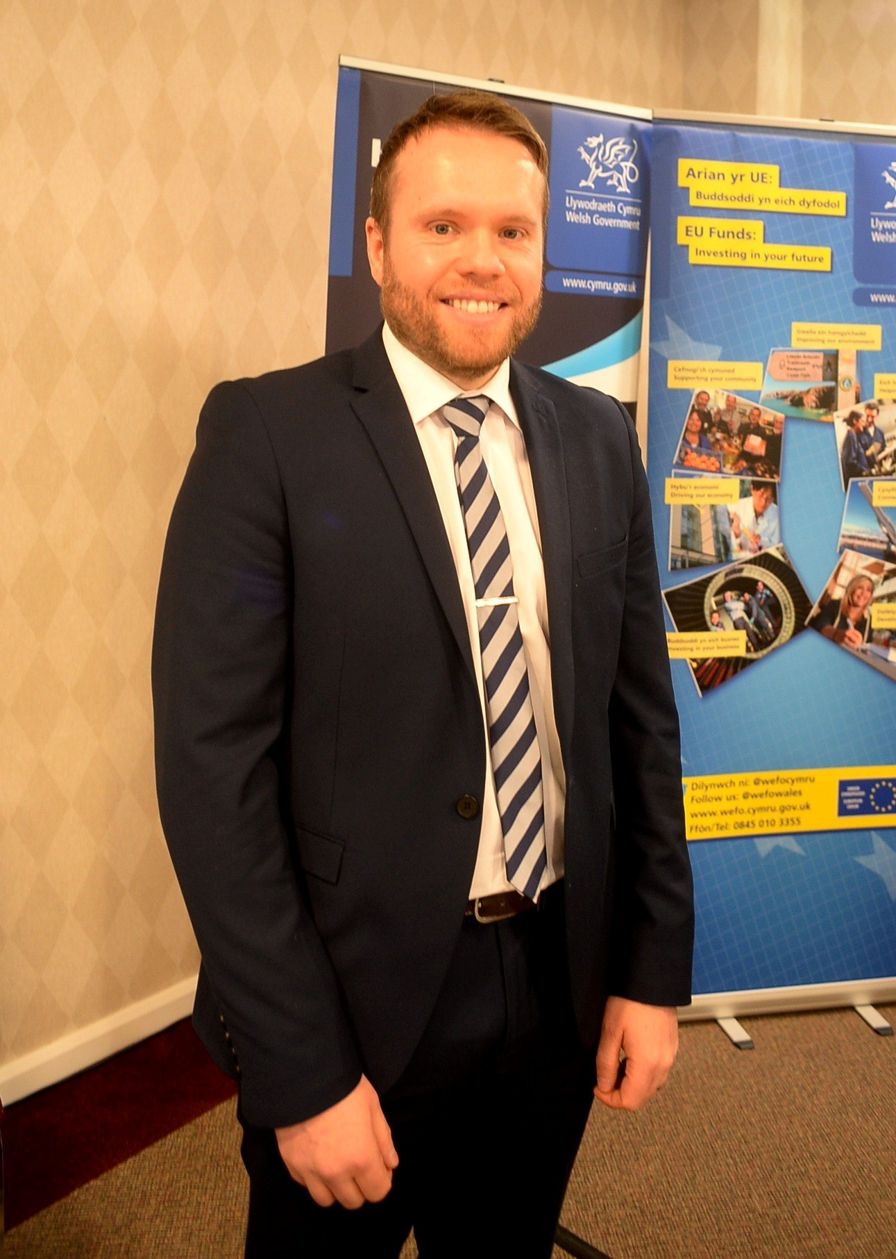Rhys Waite, Senior Design Engineer at Microsemi, Caldicot based, was delighted with the news the company was getting £400, 000 funding for professional wound care at a Horizon 2020 Event in Cardiff. (18765902)