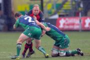 ON THE CHARGE: Dragons prop Brok Harris