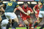 OPPORTUNITY: Scott Baldwin powers forward against South Africa last year