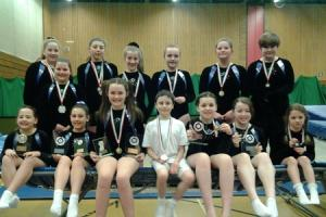 Usk Valley Trampoline Club in the medals again