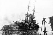 HMS Irresistible sinking on 18 March 1915