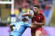 LIVEWIRE: Wales scrum-half Rhys Webb was in the thick of the action in Rome