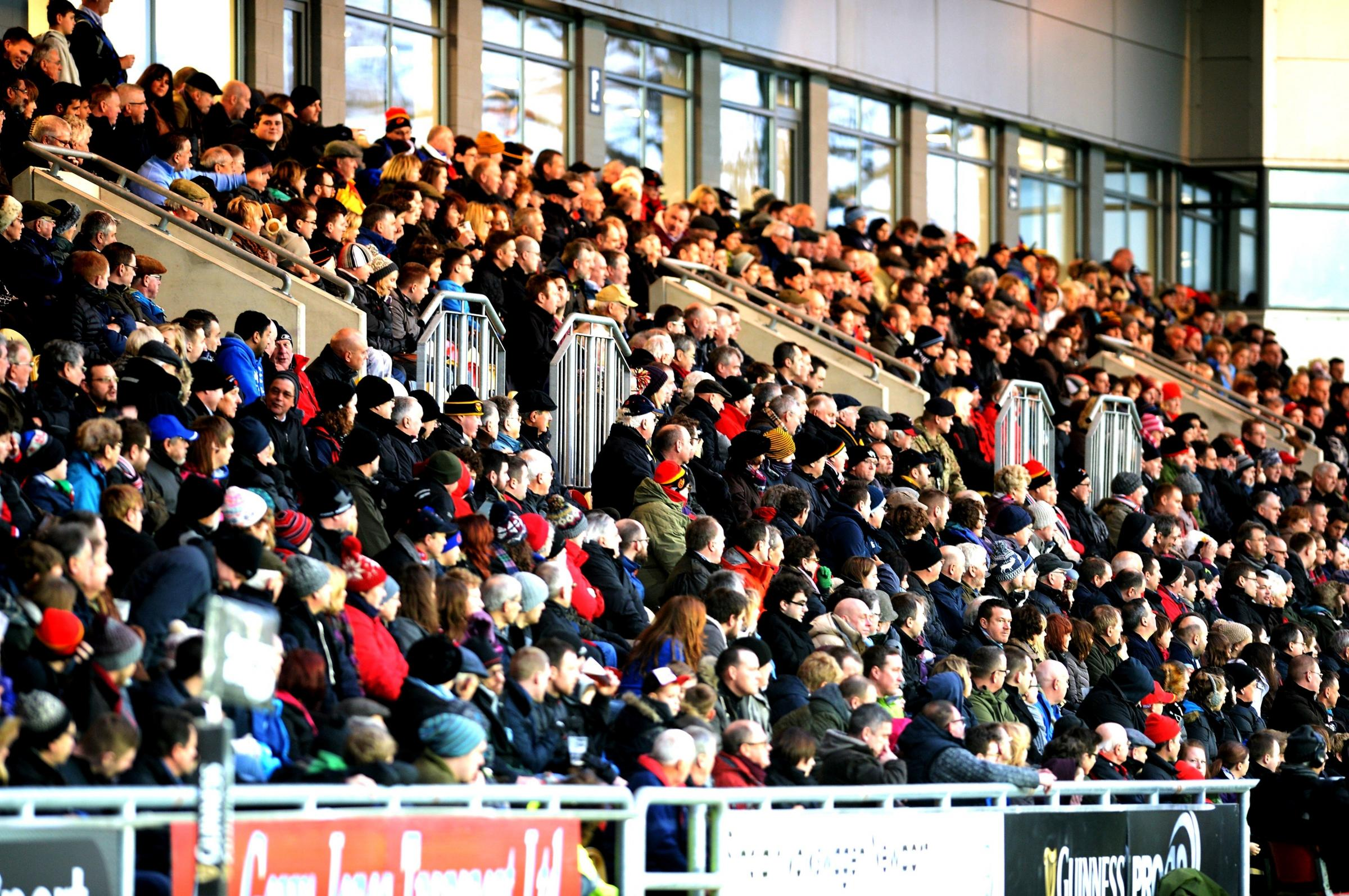 PACKED HOUSE: Rodney Parade was full to the rafter for the New Year's Day derby between Newport Gwent Dragons and Cardiff Blues
