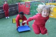 School of the Week Rougemont Nursery pupils prepare to pot some plants (21741348)