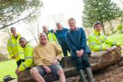 COMMUNITY WORK: Members of Greenfingers join Paddy Beynon and Rob Willbourn from Friends of Linda Vista Gardens