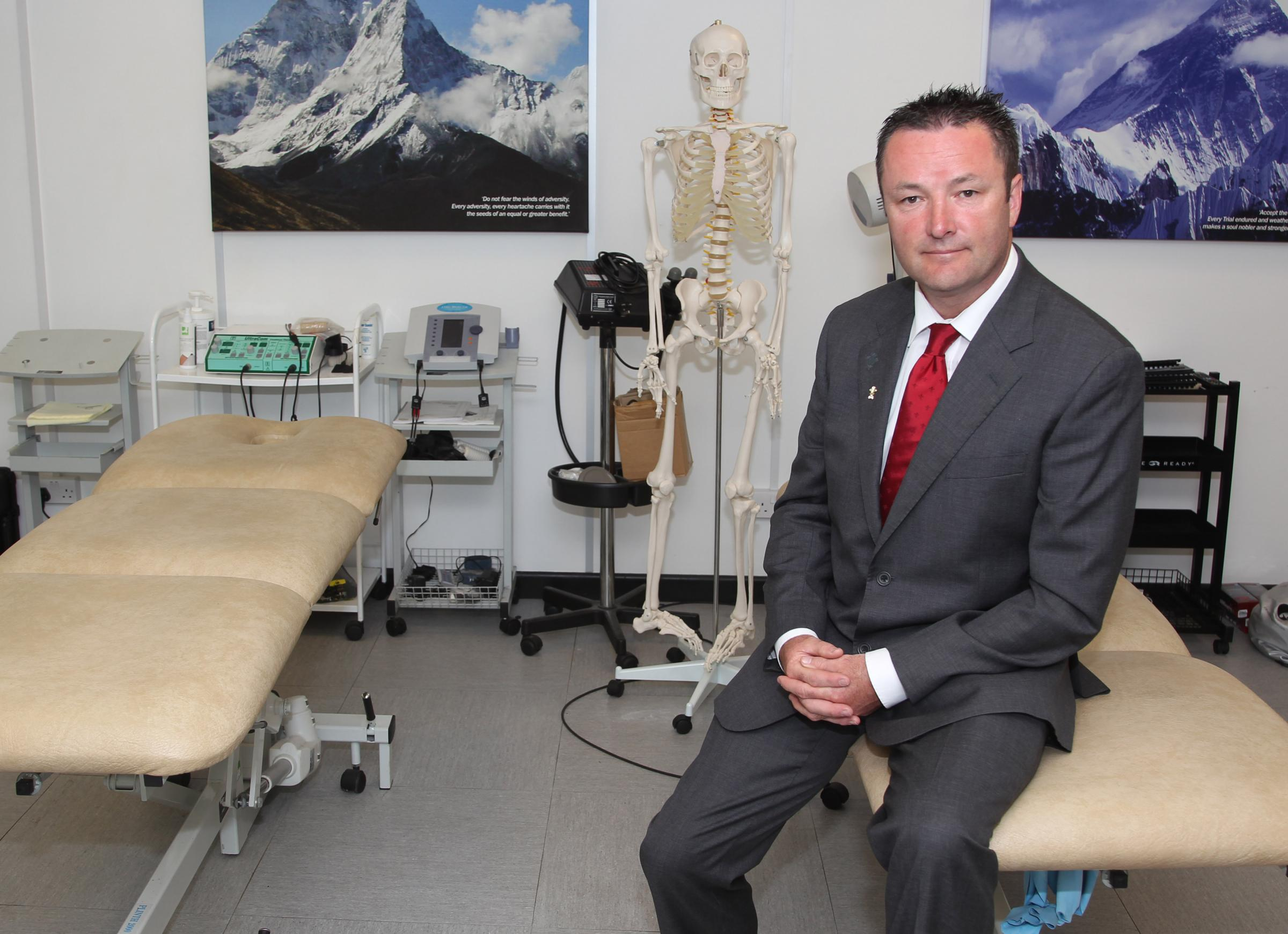 Dr Geoff Davies, WRU national team doctor to the Wales senior rugby squad has joined St Joseph's Hospital