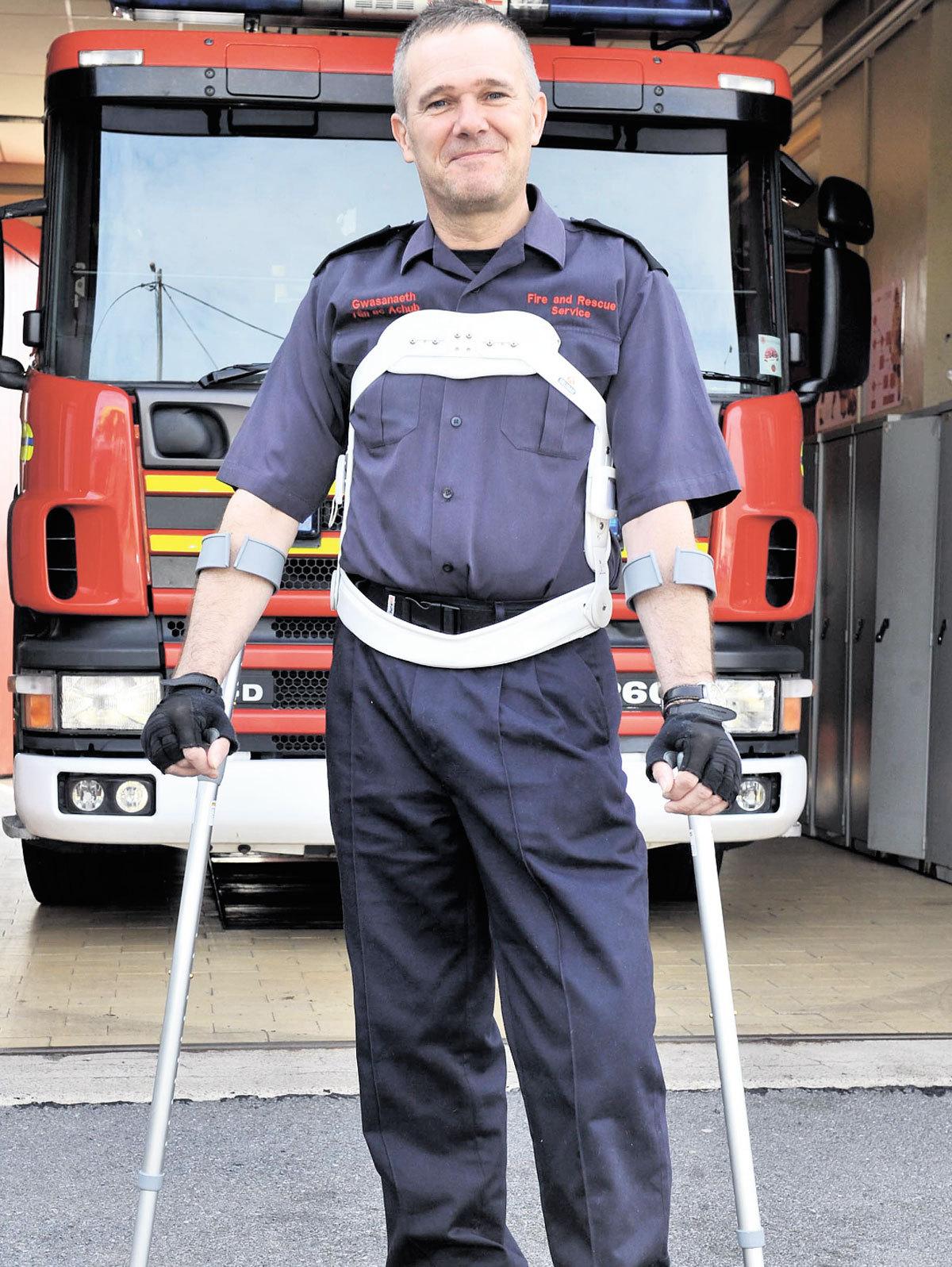 Fireman still recovering