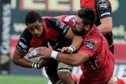 DERBY DAY: Taulupe Faletau in action for the Dragons against the Scarlets earlier this season