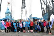 Kidney Wales walk for Life sets of from Newport Transporter bridge visitors centre  (24309466)