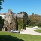 South Wales Argus: Georgian-style manor Llanwenarth House in the Usk Valley, south Wales