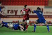 DRAGONS-BOUND: Scarlets centre Adam Warren. Picture courtesy of Swansea Evening Post
