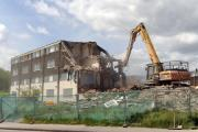 Demolition starts on the flats in Cot Farm Circle, Ringland (27438433)