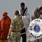 South Wales Argus: Migrants have been rescued and taken to Italy by HMS Bulwark (Ministry of Defence/PA)