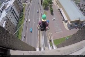 Police warning after teens film themselves climbing up George Street Bridge in Newport and sliding down its cables