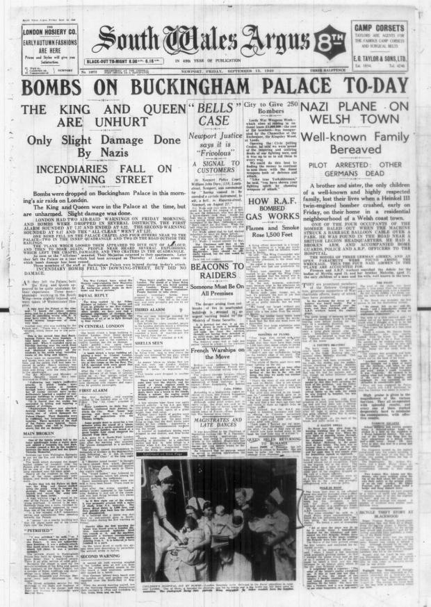 South Wales Argus: FRONT PAGE: How the South Wales Argus reported the crash. Wartime censorship meant we could not say where the crash happened