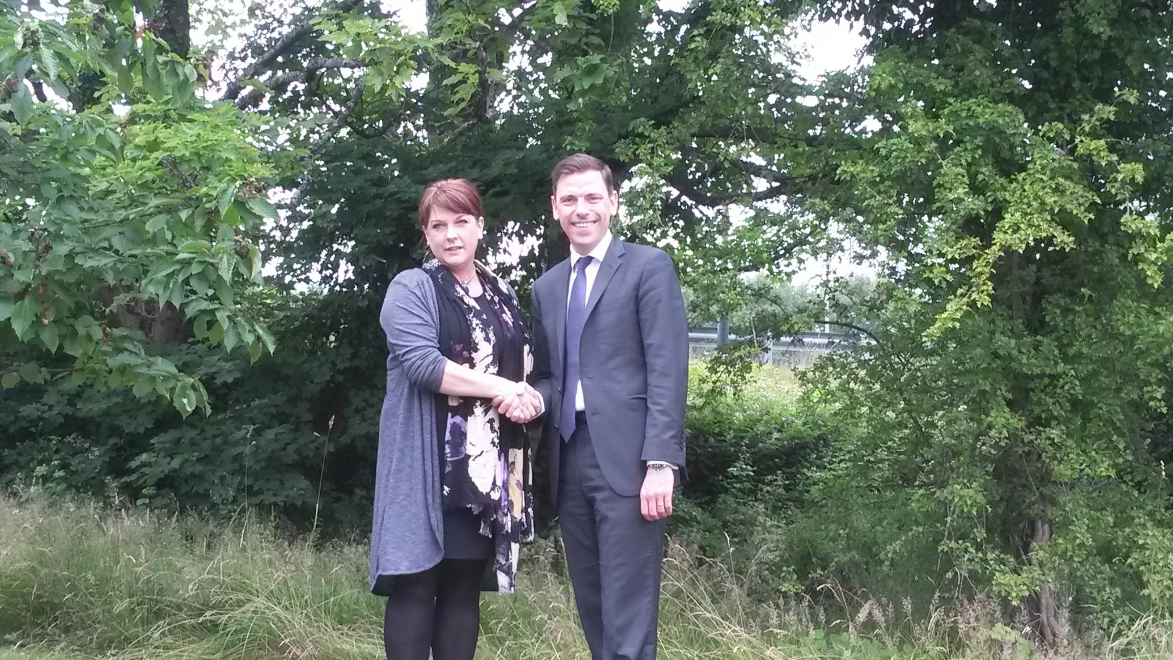 SELECTED: Chris Evans MP has welcomed the selection of Rhianon Passmore as the assembly candidate.
