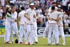 England celebrate victory in the First Investec Ashes Test at the SWALEC Stadium, Cardiff. PRESS ASSOCIATION Photo. Picture date: Saturday July 11, 2015. See PA story CRICKET England. Photo credit should read: Joe Giddens/PA Wire. RESTRICTIONS: Editorial