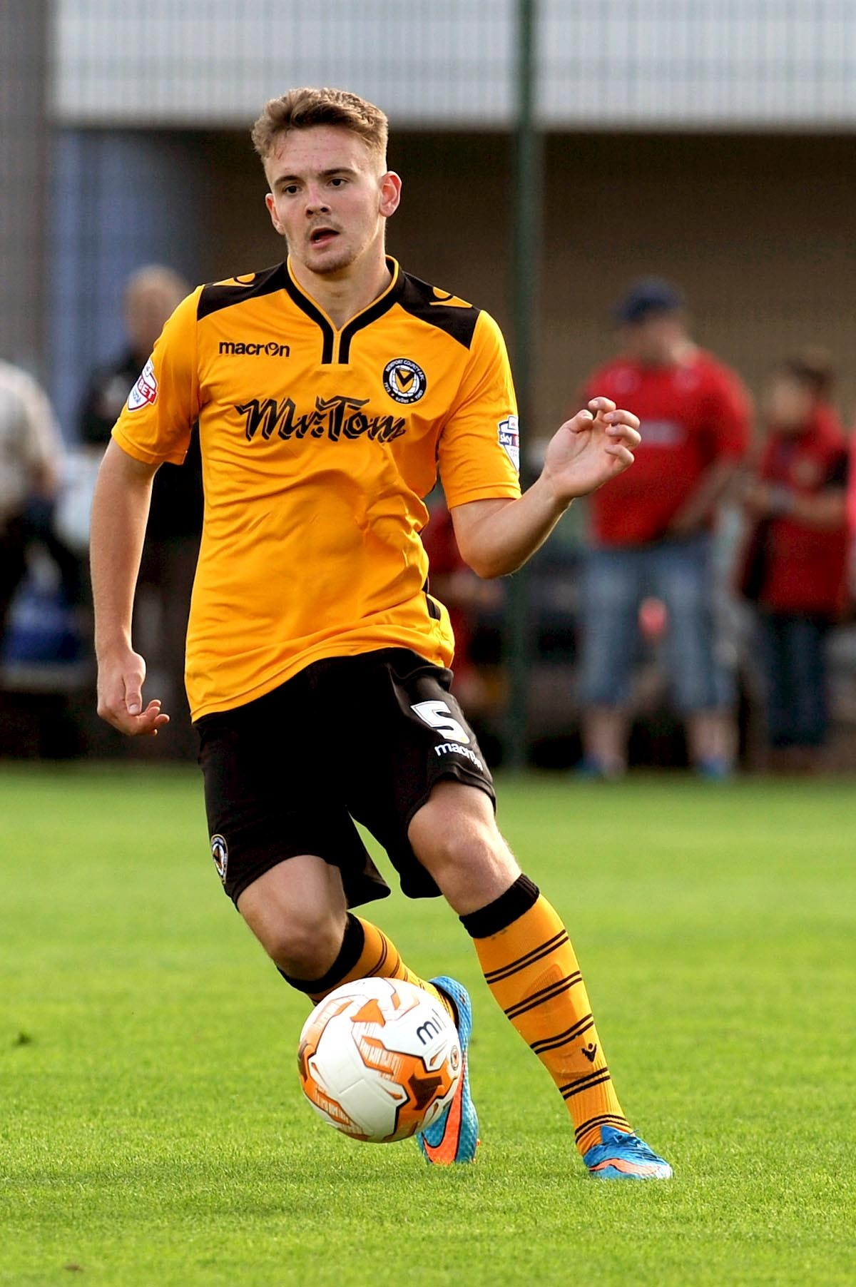RELEASED: Kieran Parselle is one of eight players released by Newport County
